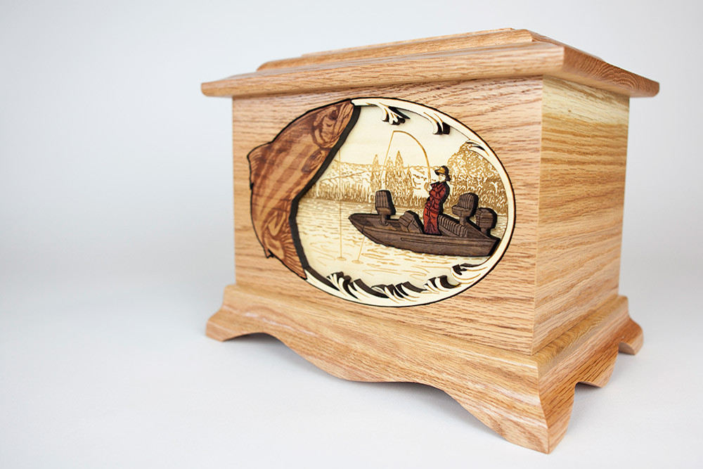 Gorgeous 3D fishing wood art scene