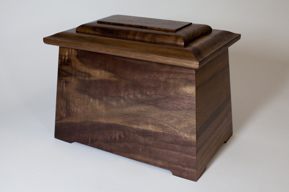 Astoria Cremation Urn - Walnut Wood