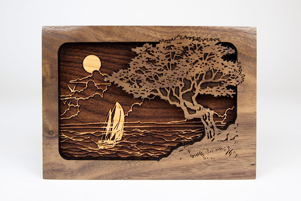 Gorgeous sailboat and seashore artwork