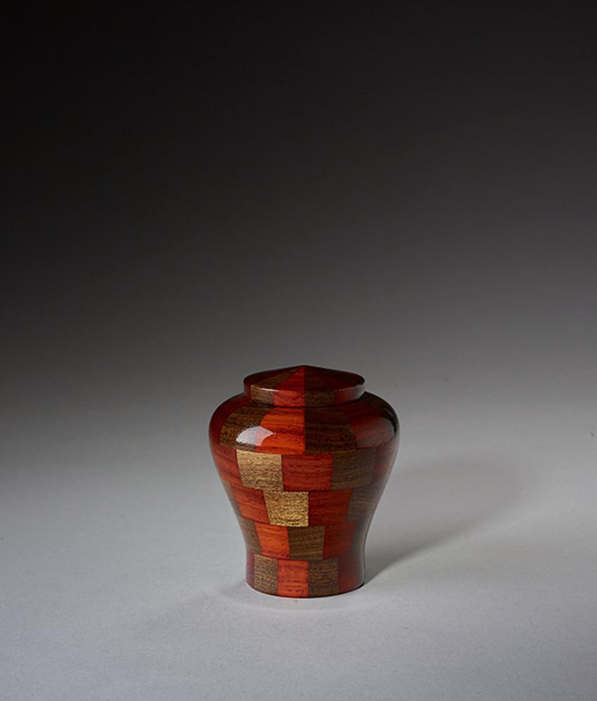 Keepsake Size - Walnut & Padauk Wood Urn