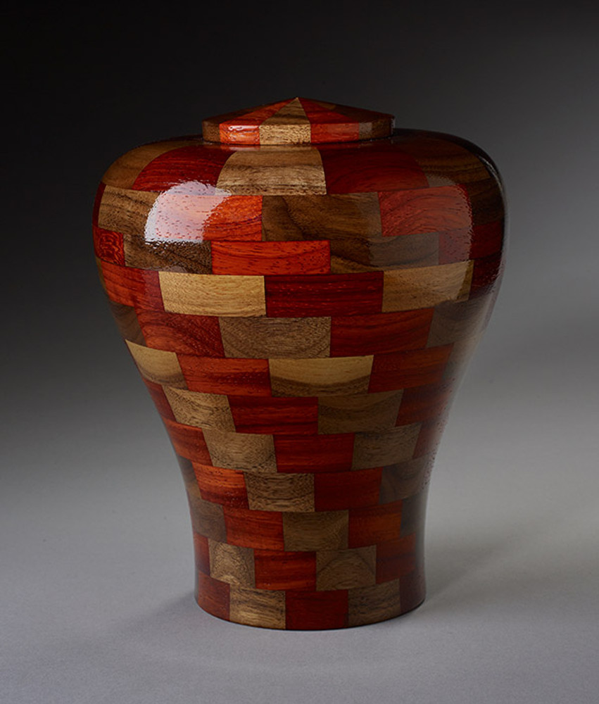 Standard (Large) Size - Walnut & Padauk Wood Urn