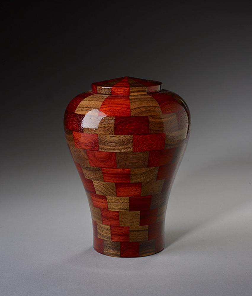 Small Size - Walnut & Padauk Wood Urn