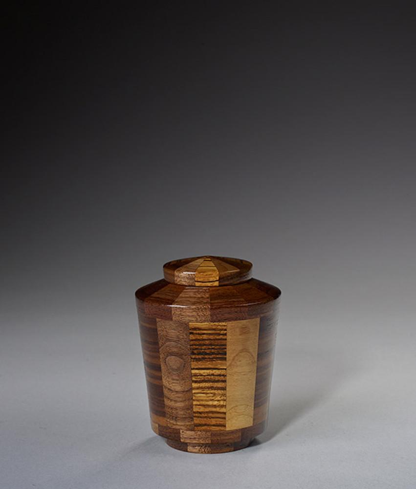 Keepsake Size - Walnut & Zebrawood Urn
