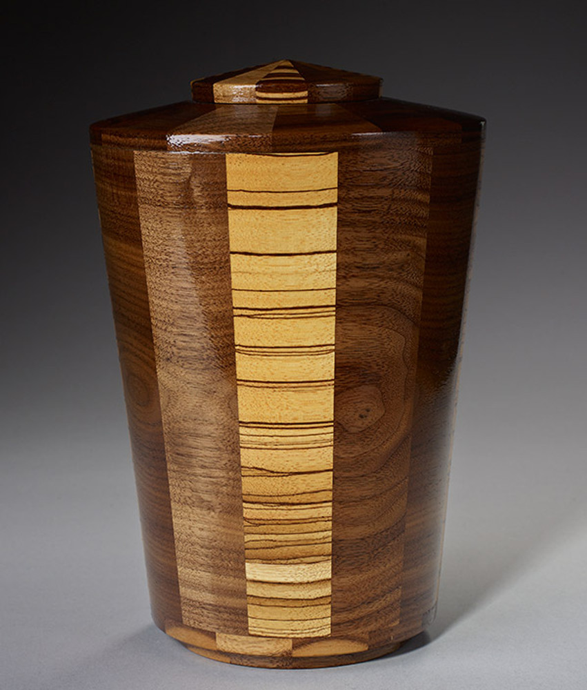 Standard (Large) Size - Walnut & Zebrawood Urn