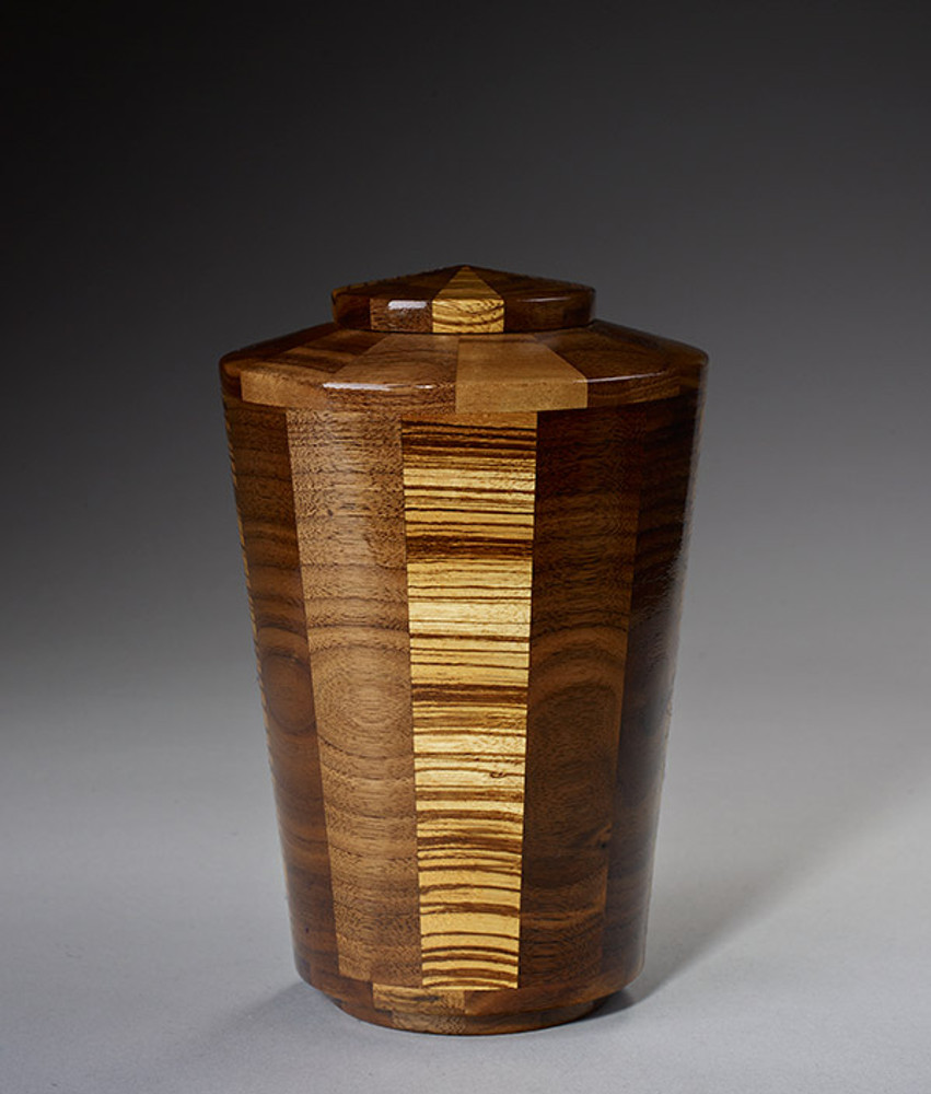 Small Size - Walnut & Zebrawood Urn