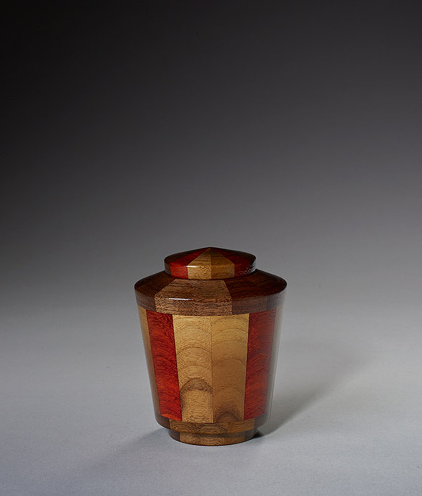 Keepsake Size - Walnut & Padauk Urn