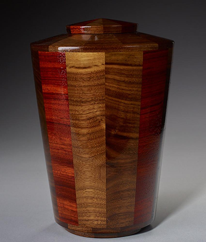 Standard (Large) Size - Walnut & Padauk Urn