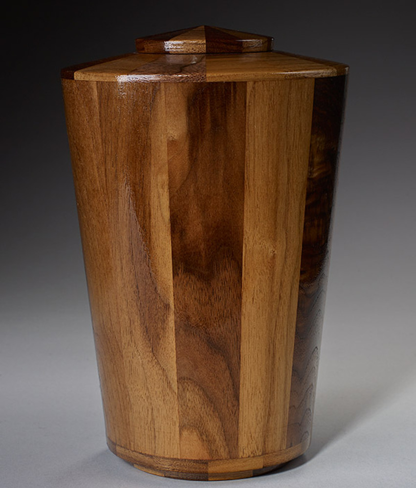 Standard Adult (Large) Size - Walnut Cremation Urn