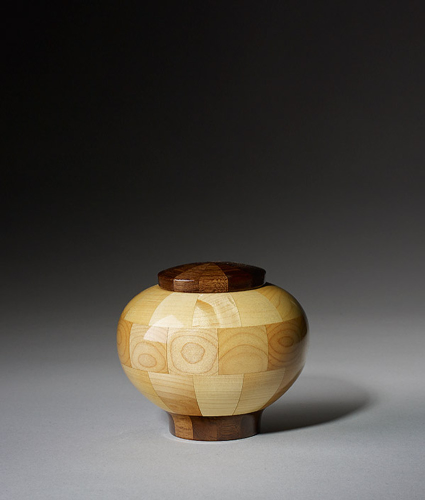 Keepsake Size - Rounded Maple Cremation Urn