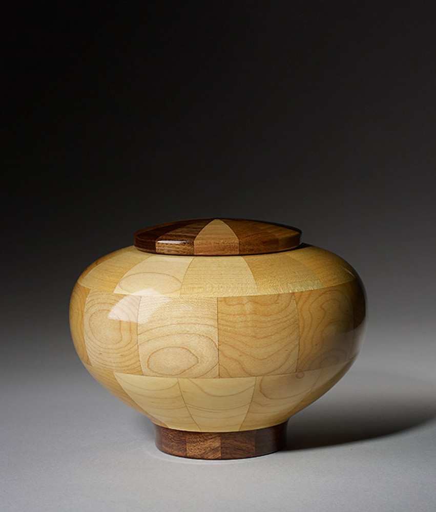 Small Size - Rounded Maple Cremation Urn