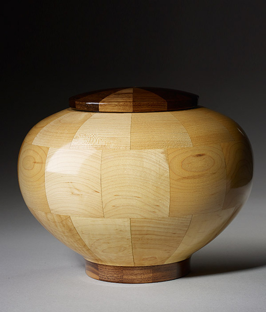 Standard (Large) Size - Rounded Maple Cremation Urn