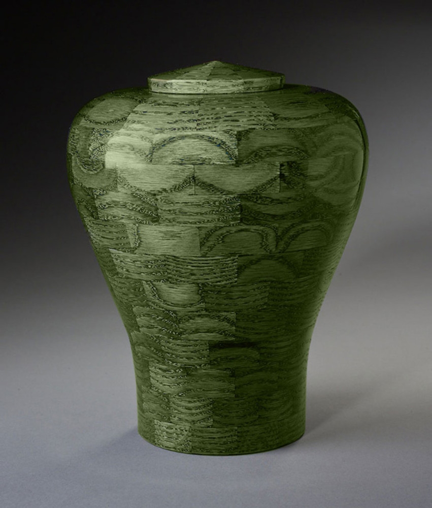 Green Wood Cremation Urn