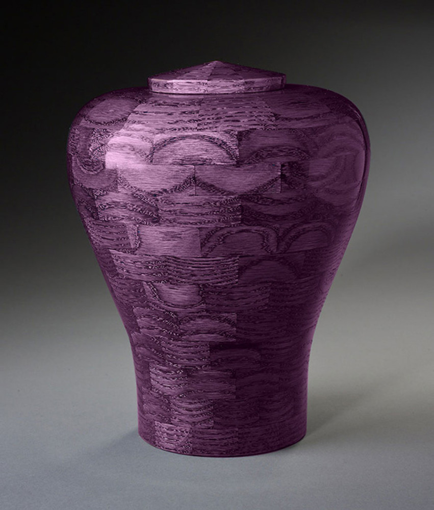 Purple Wood Cremation Urn