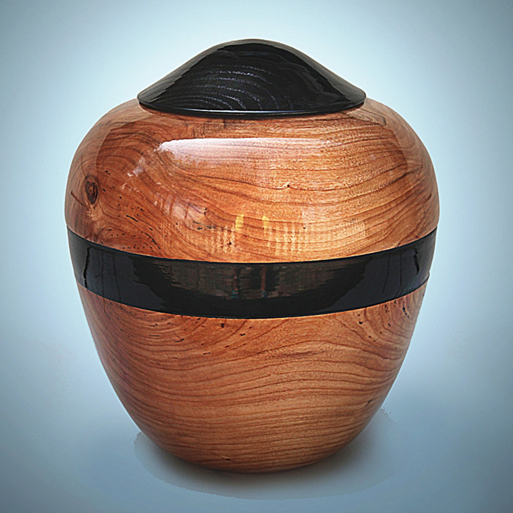 Hand Turned Cherry Wood Urn