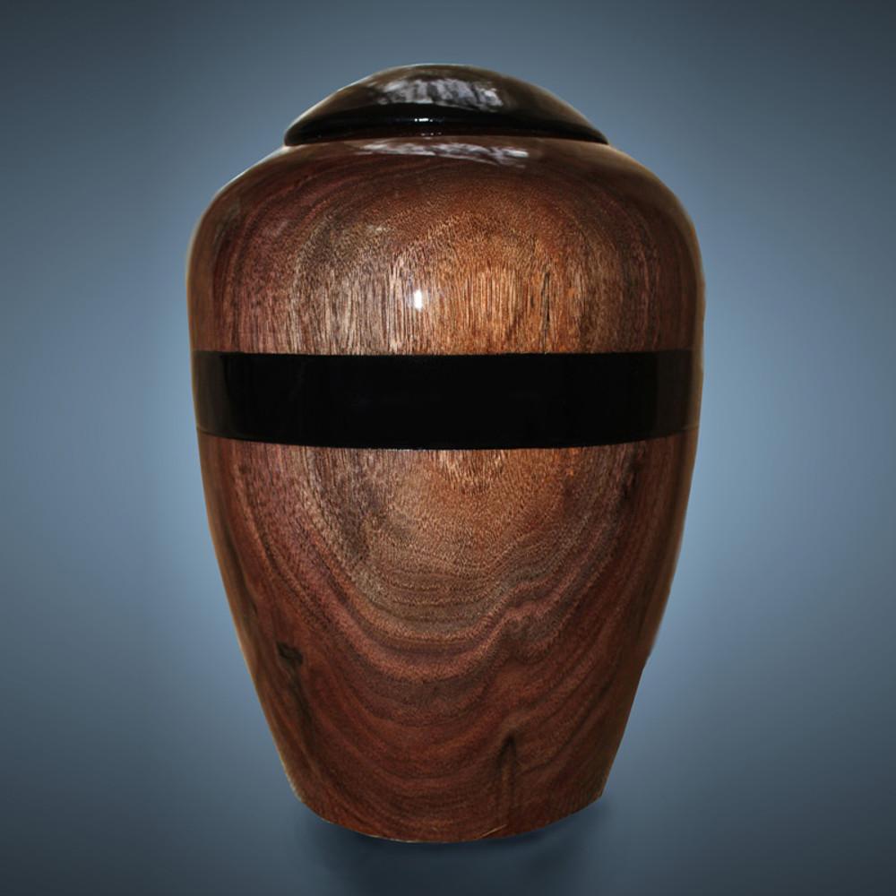 Woodturned Companion Urn - Dark Walnut Wood