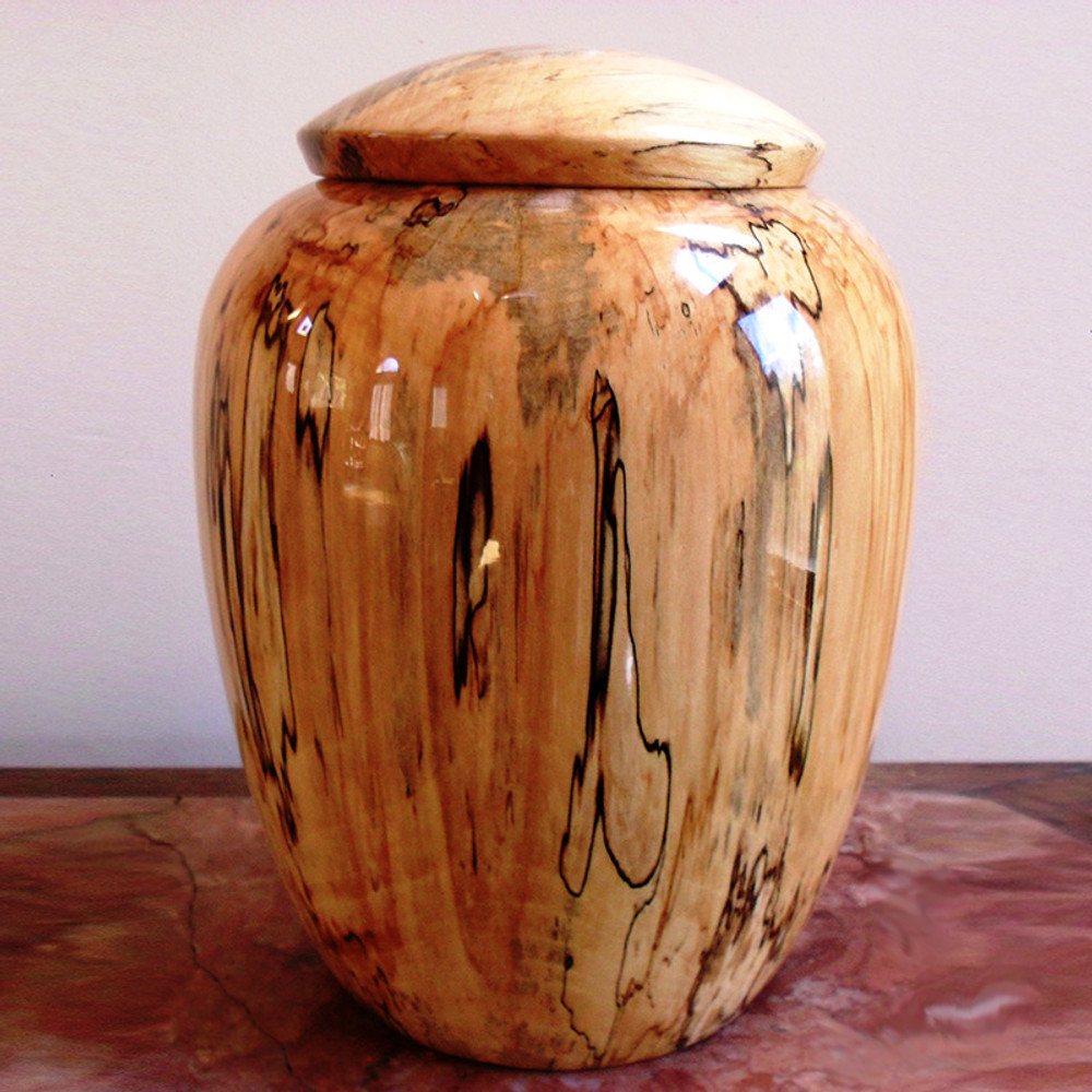 Hand Turned Maple Wood Companion Urn