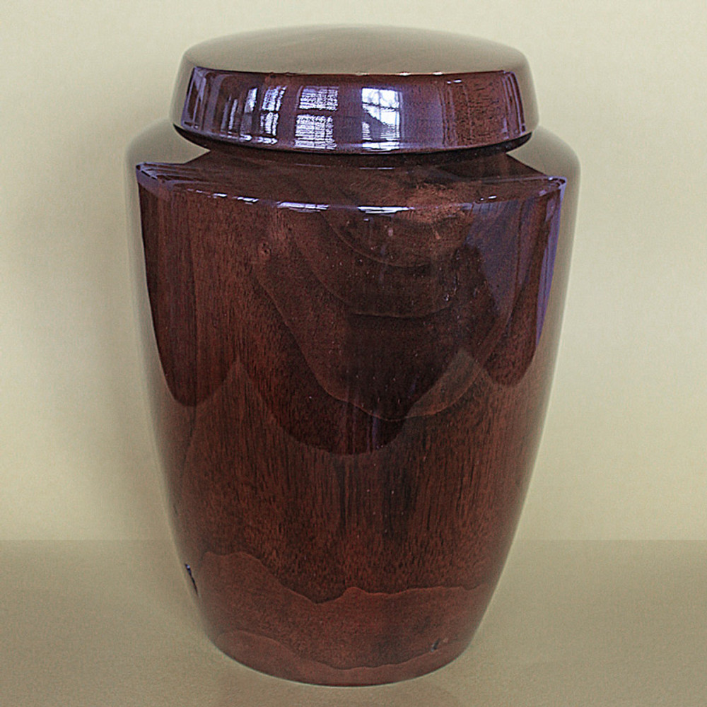Hand Turned Black Walnut Urn