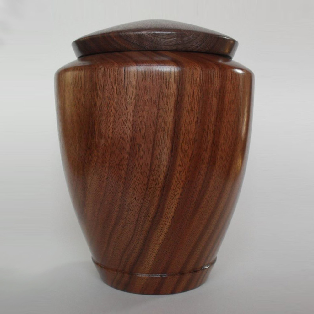 Hand Turned Tranquility Walnut Wood Cremation Urn