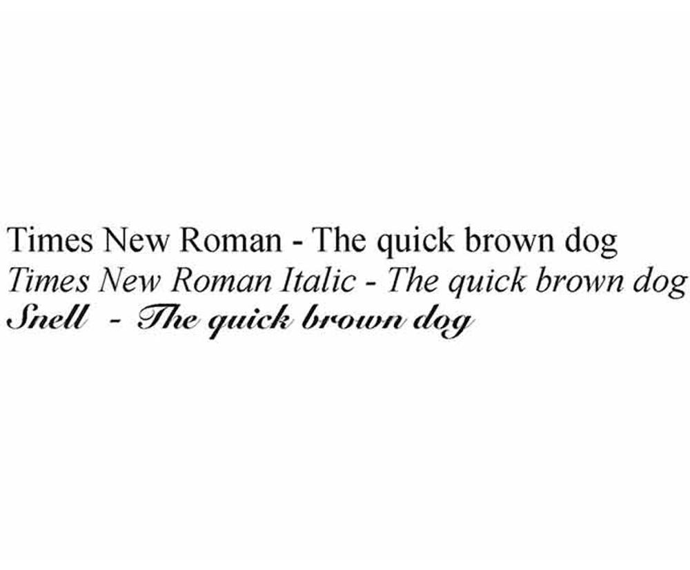 Inscription Font Choices
