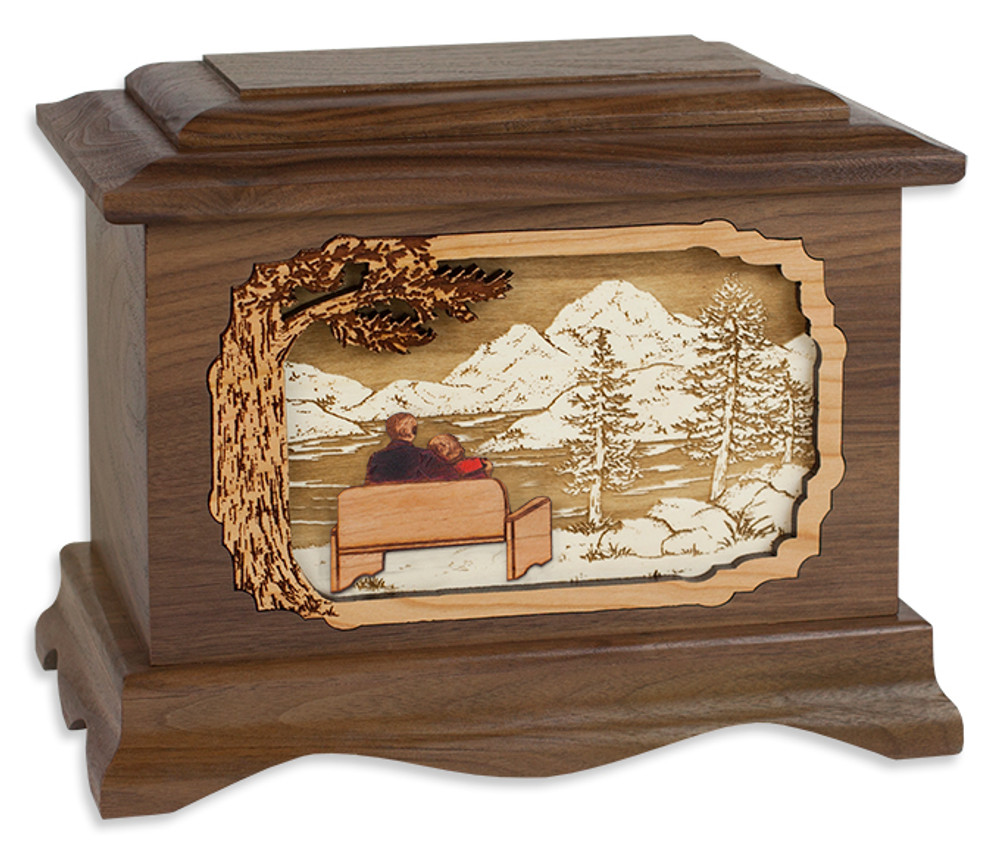 My Soulmate Cremation Urn with Inlay Wood Art
