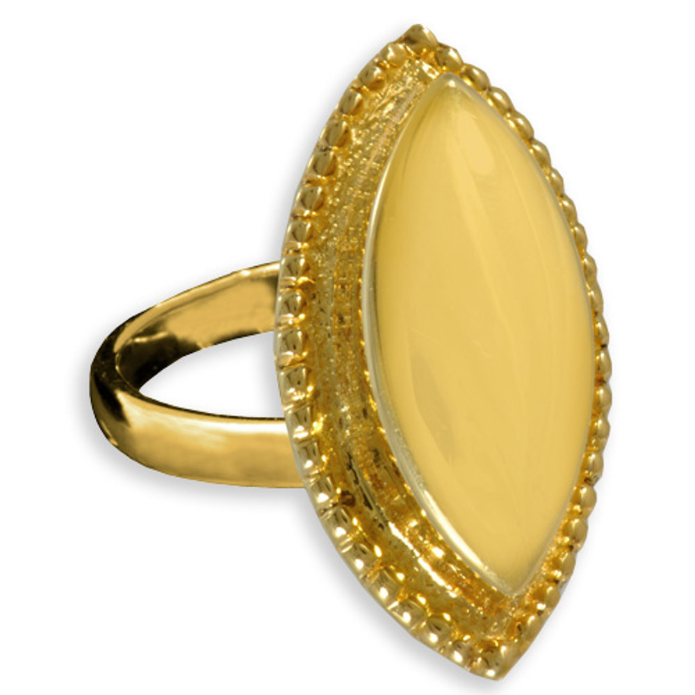 Oval Cremation Ring in 14k Gold Plated Sterling Silver