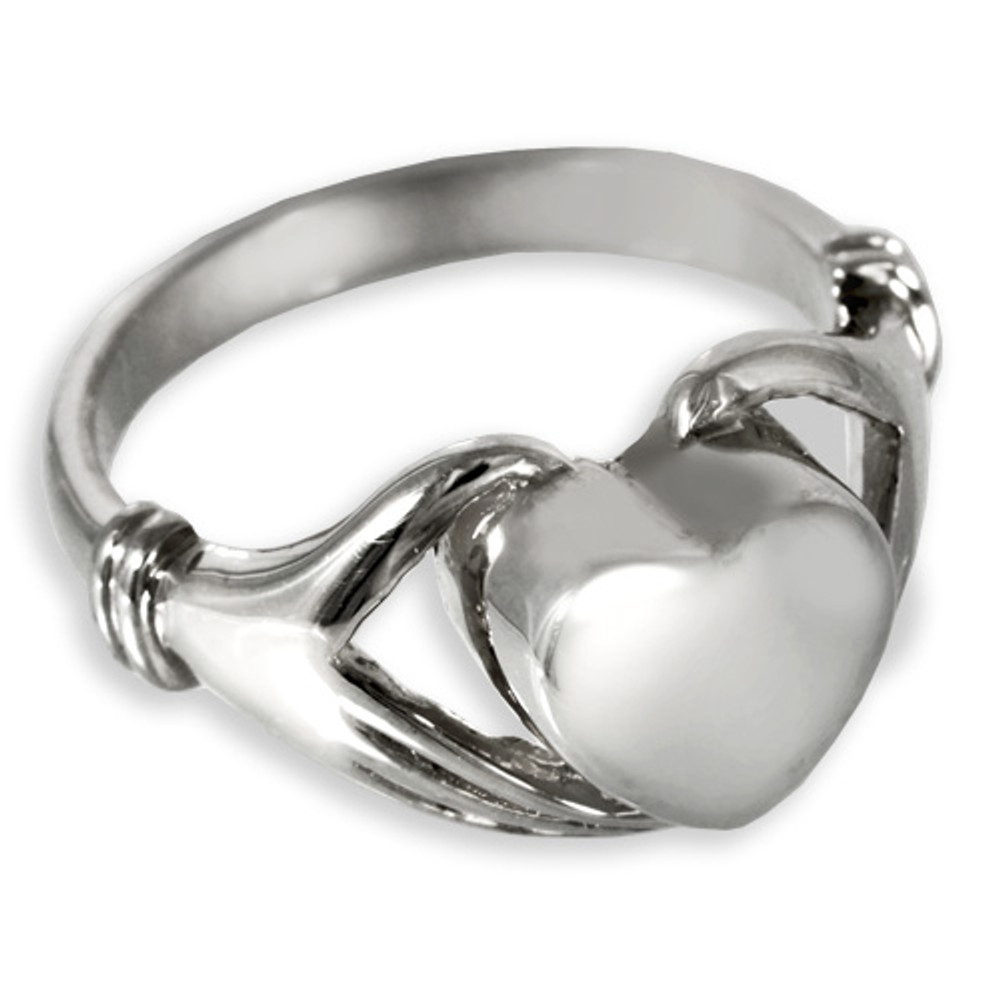 Sterling Silver Heart Cremation Ring