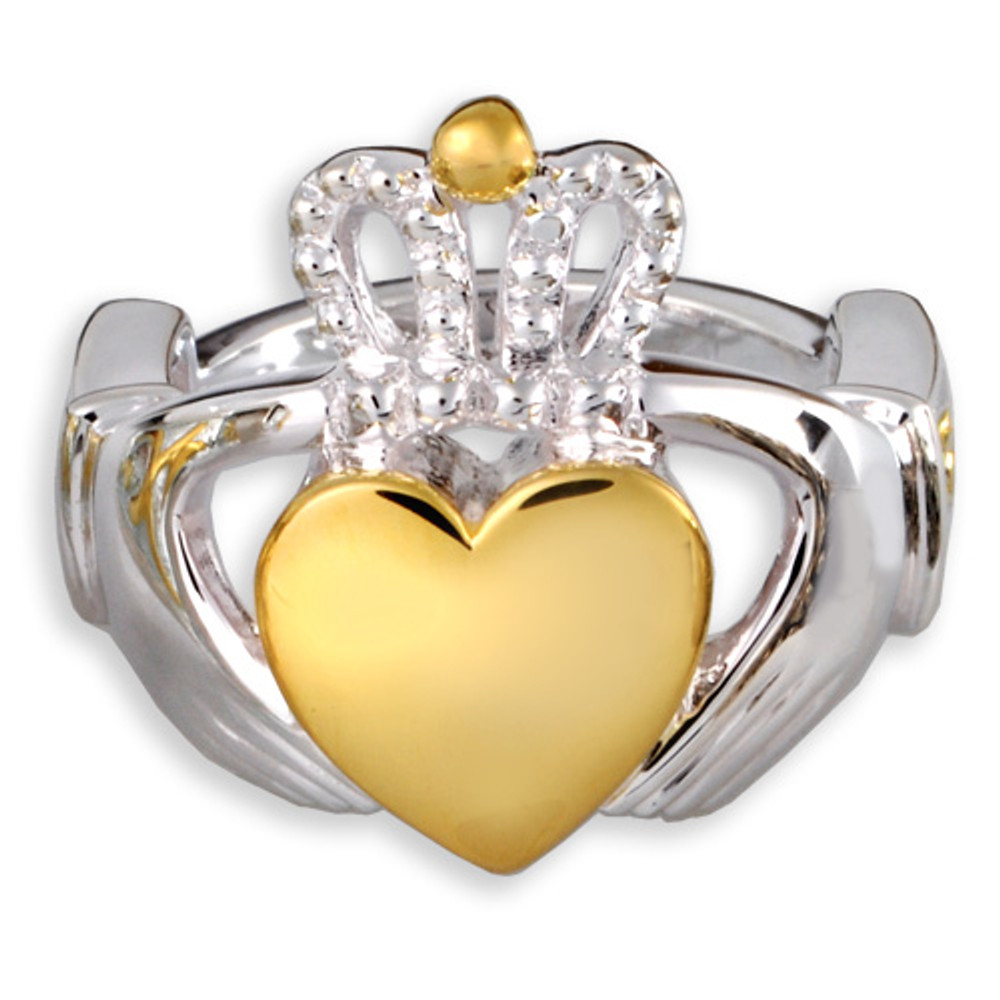 Front View of Claddagh Memorial Ring