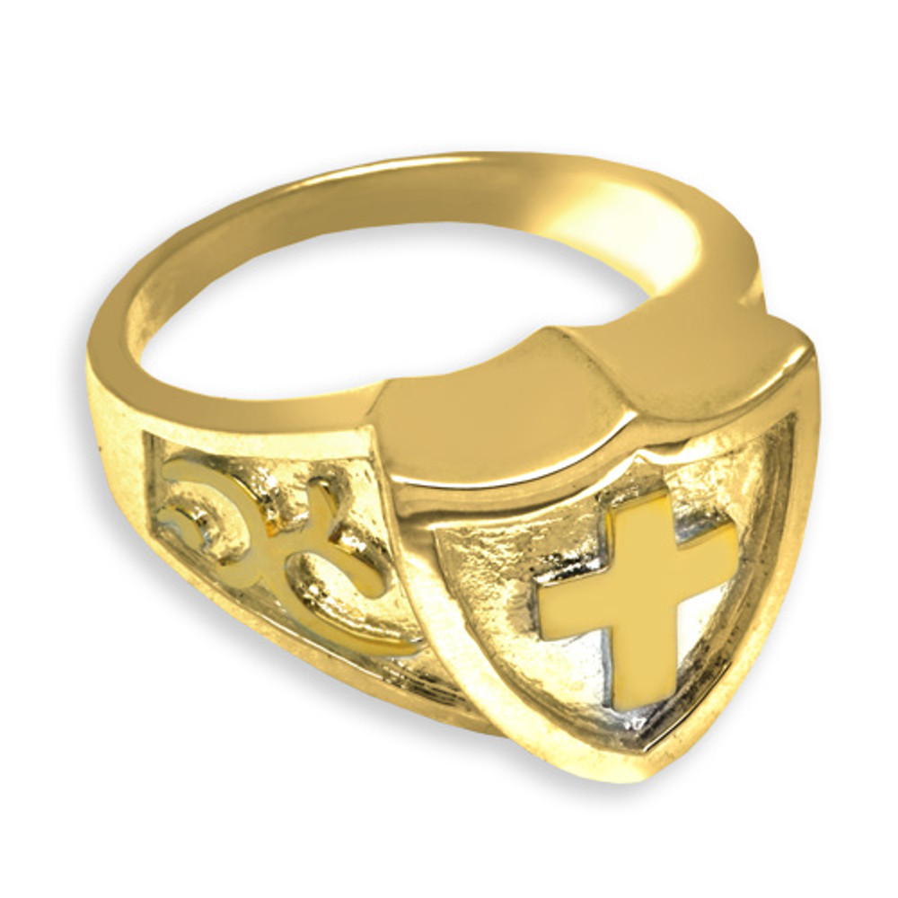 14k gold plated ring in Sterling Silver