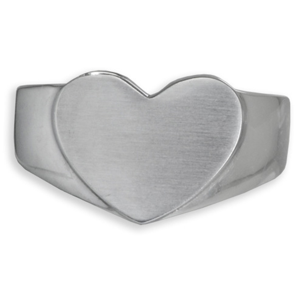 Simple Bold Heart design in durable stainless steel