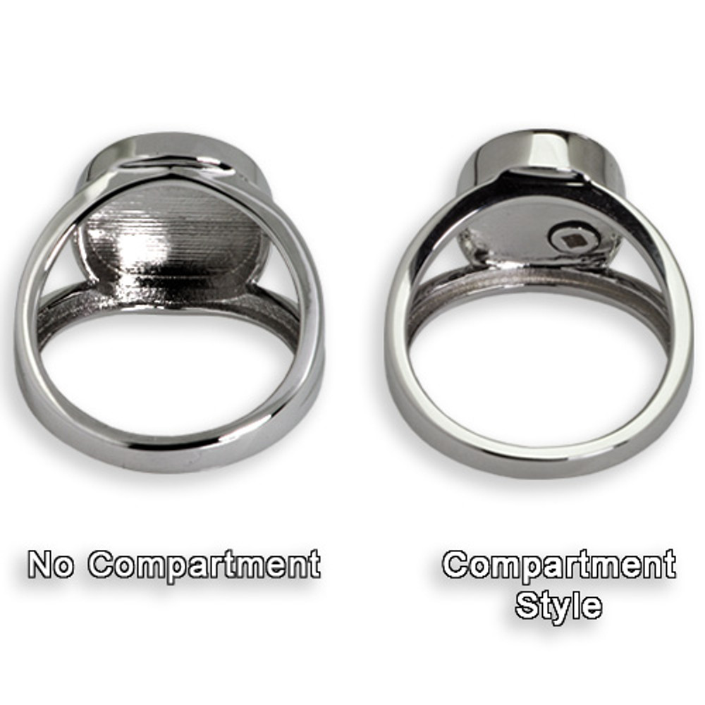 Elegant Oval Personalized Footprint Memorial Ring