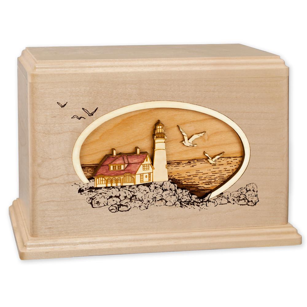 Portland Head Lighthouse - Maple Wood Companion Urn
