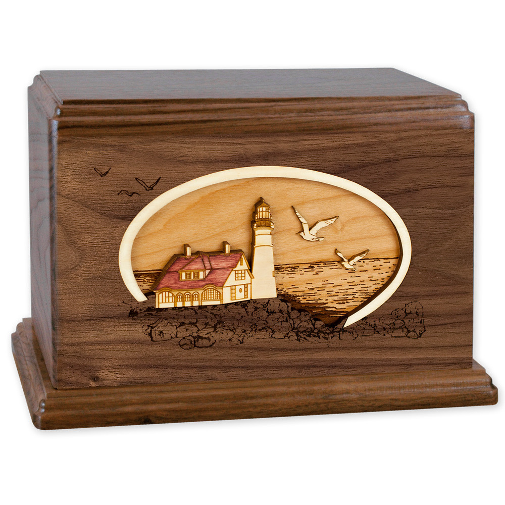 Portland Head Lighthouse - Walnut Wood Companion Urn