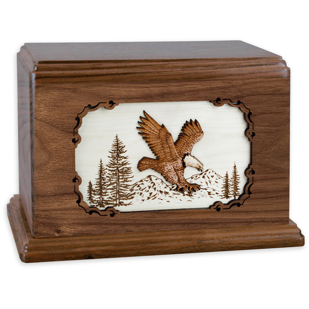 Eagle Wood Companion Urn - Walnut Wood