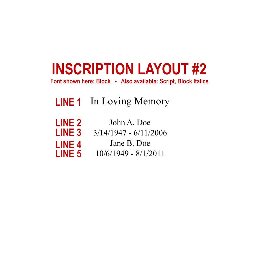 Companion Urn Inscription Layout #2