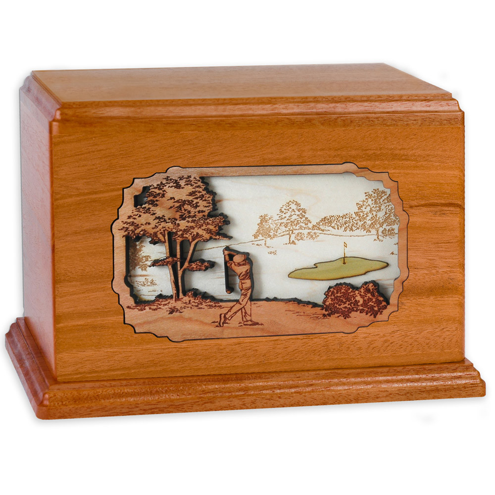 Golf Companion Urn - Mahogany Wood