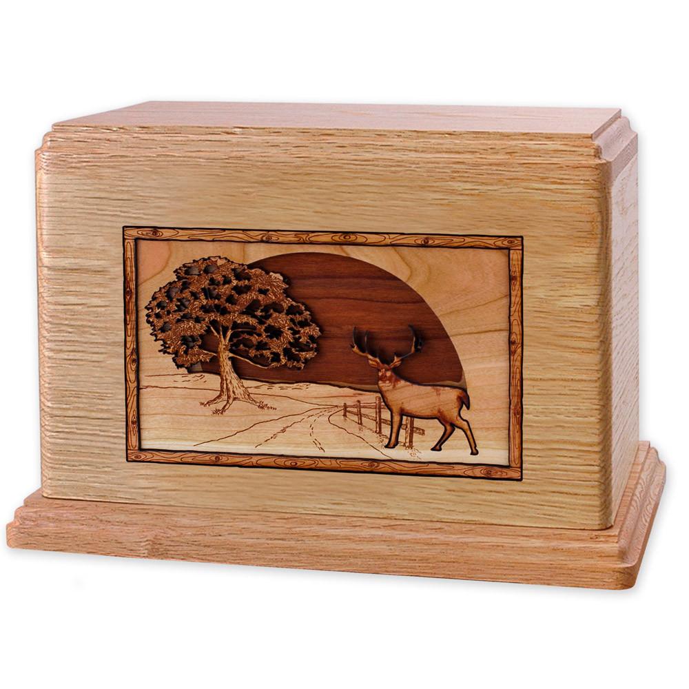 Heartland Deer Wood Companion Urn - Oak