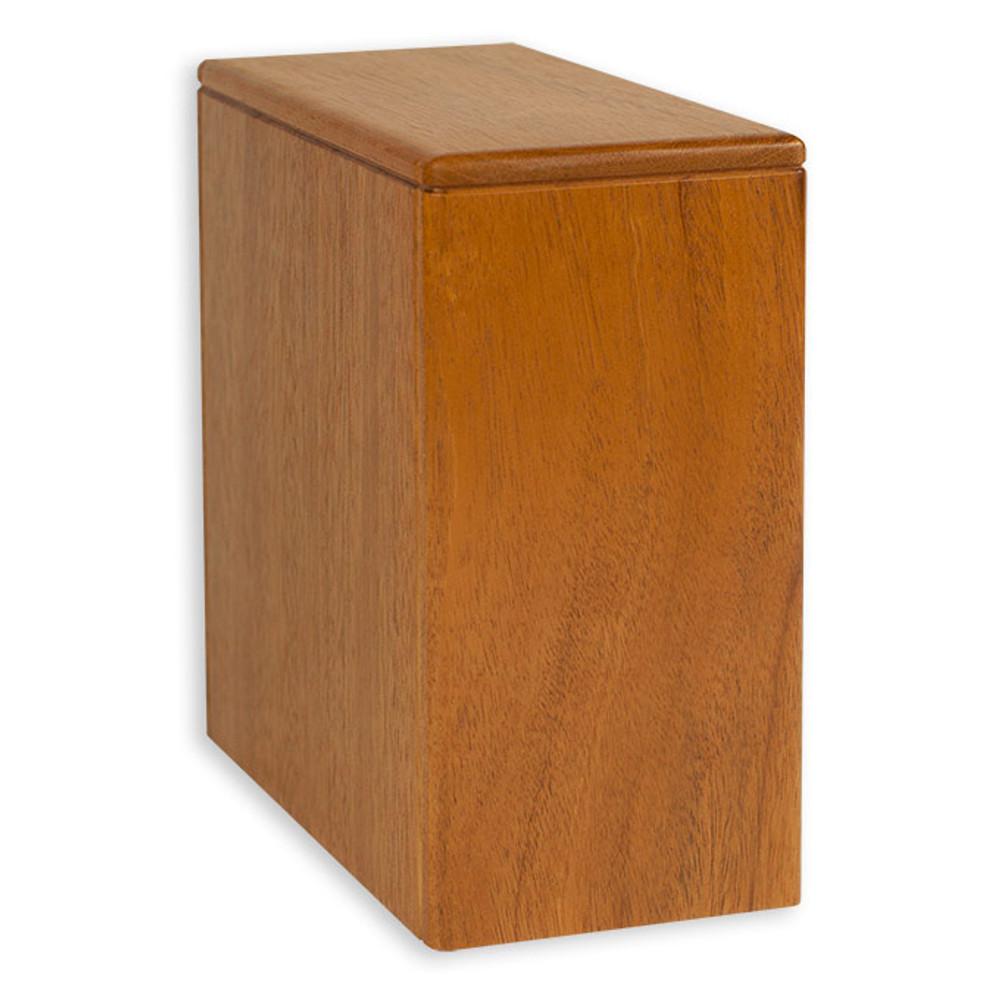 Niche Cremation Urn - Mahogany Wood