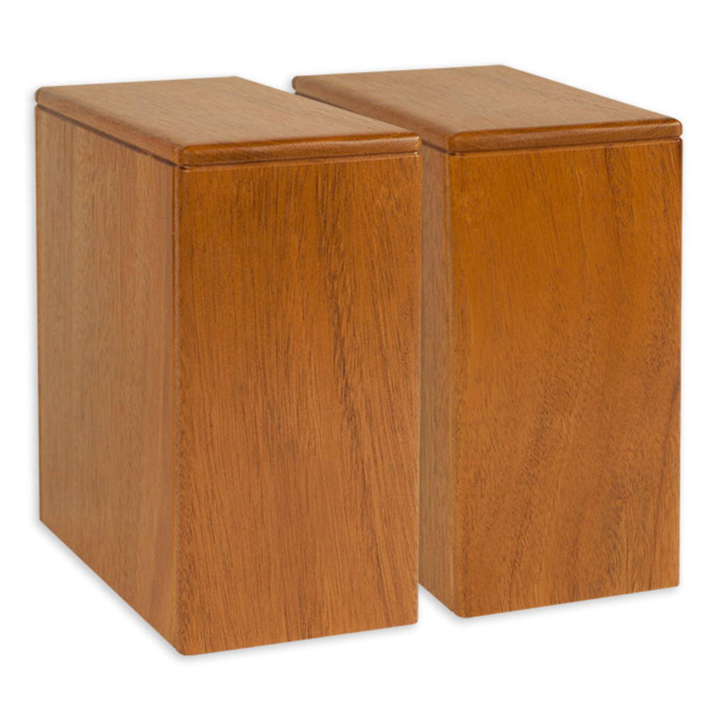 "Two niche urns fit side by side in a 8.5"" area"