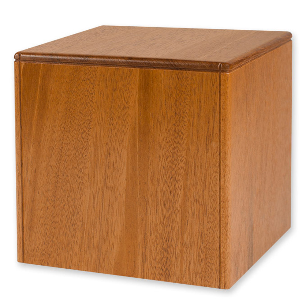 Companion Size Niche Urn - Mahogany Wood