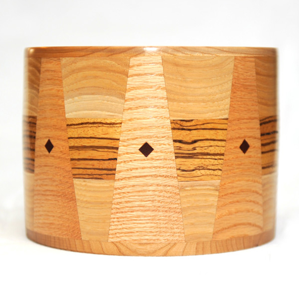 Gorgeous inlay patterns using real solid wood