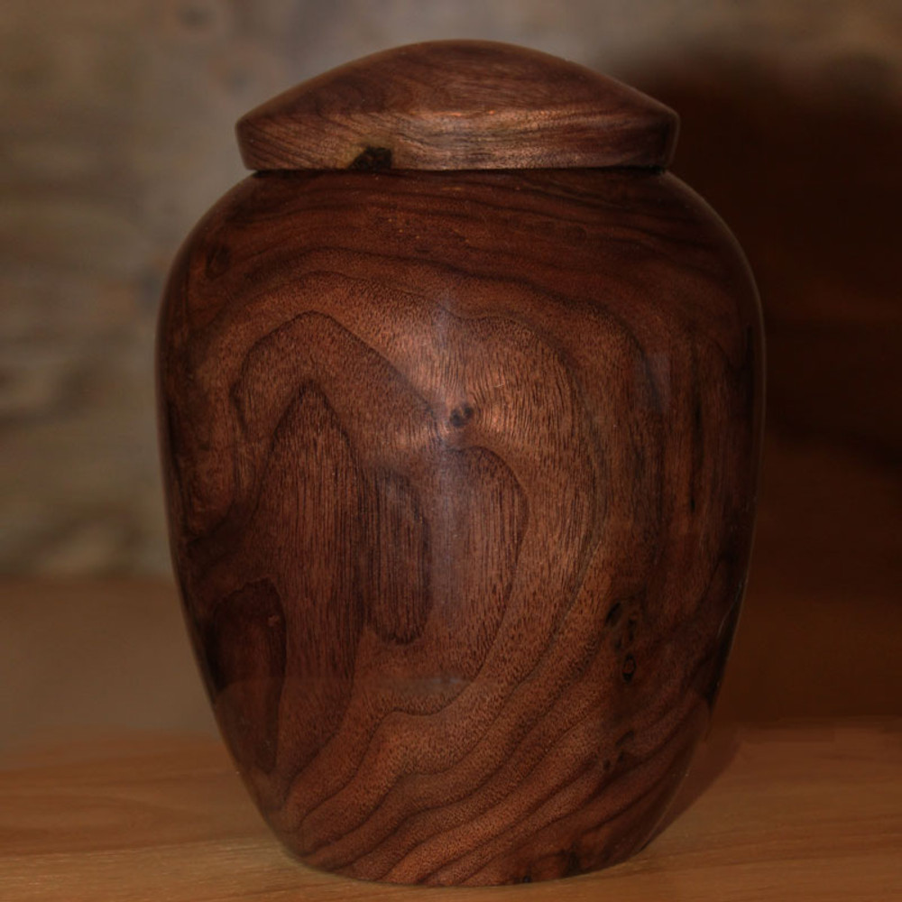Walnut Companion Urn