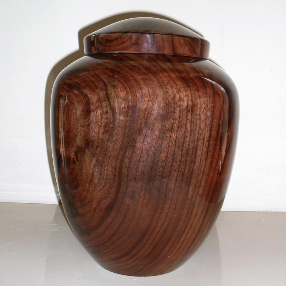 Hand Turned Walnut Wood Companion Urn