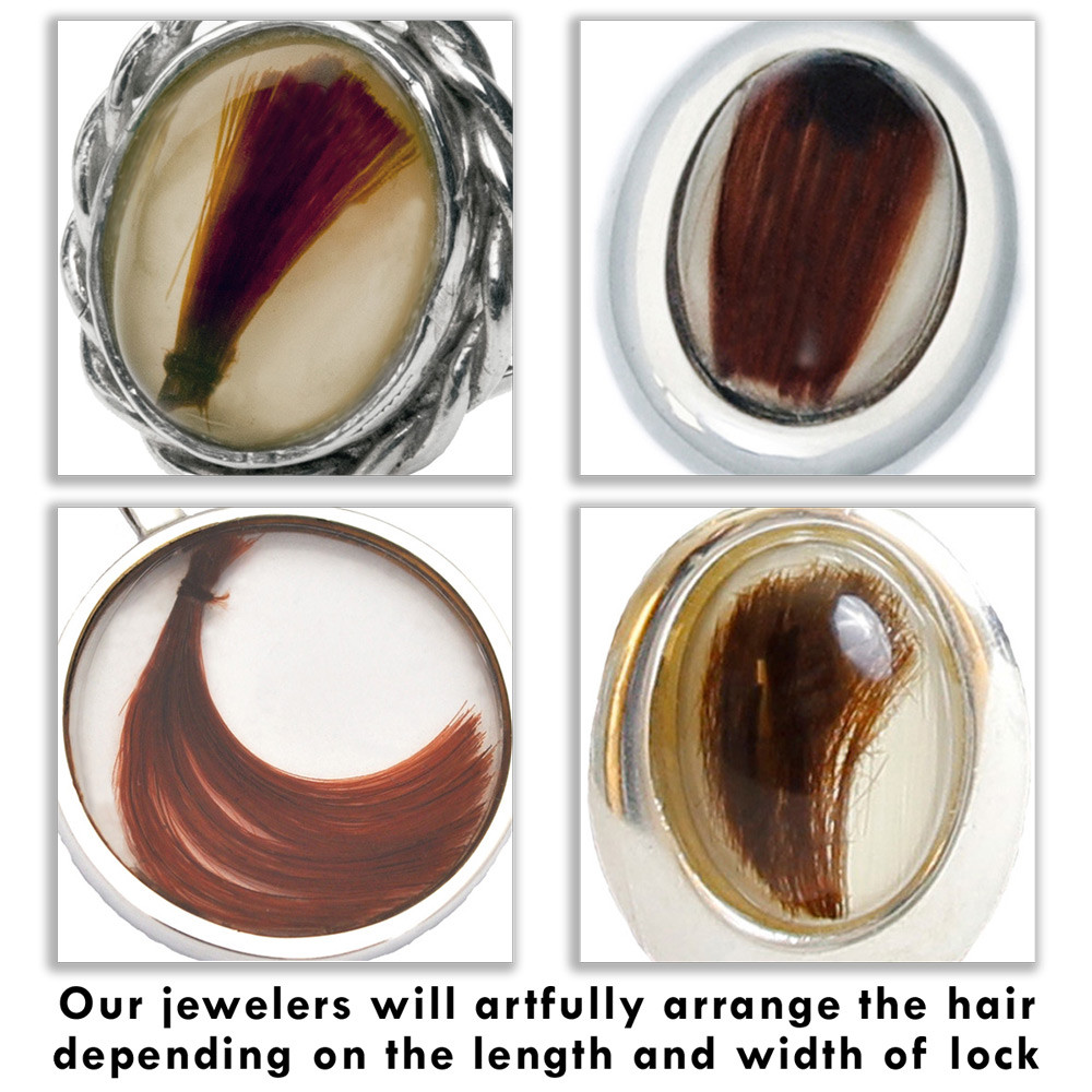 Allow our artisans to arrange the lock of hair in a way that is aesthetically pleasing