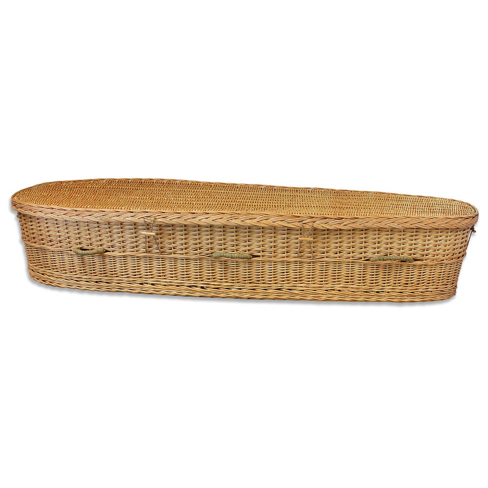 Biodegradable Willow Casket for Burial or Cremation
