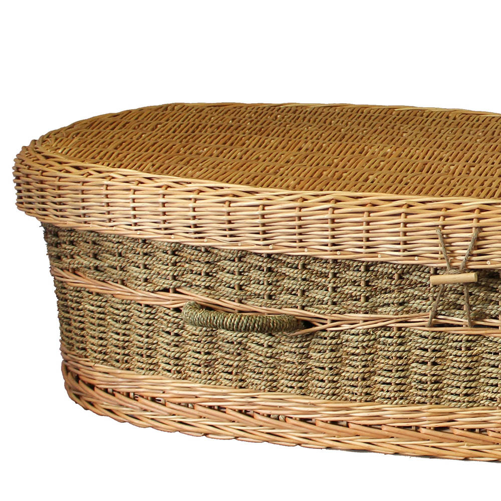 Seagrass Casket: Top Detail