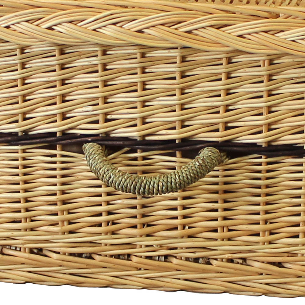6-Point Willow Coffin: Handle Detail