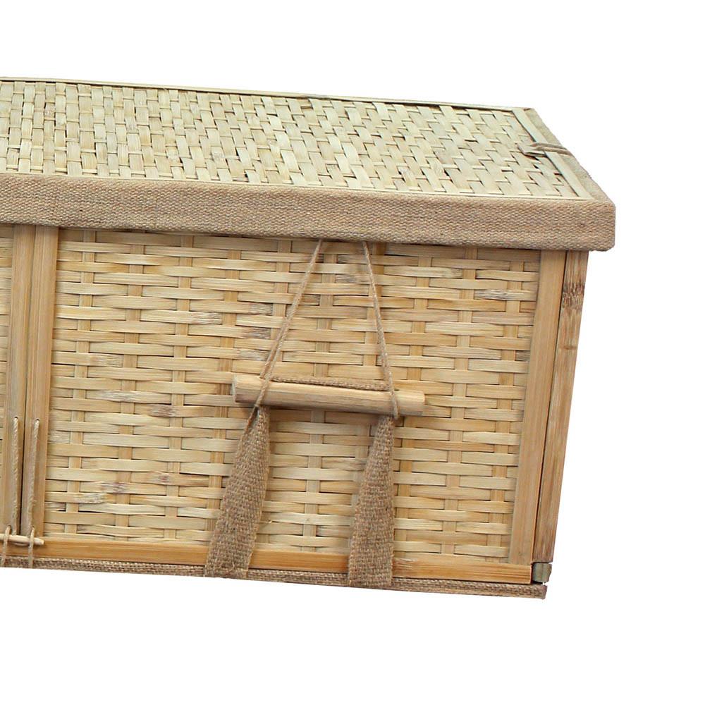 Bamboo Casket Detail: Foot