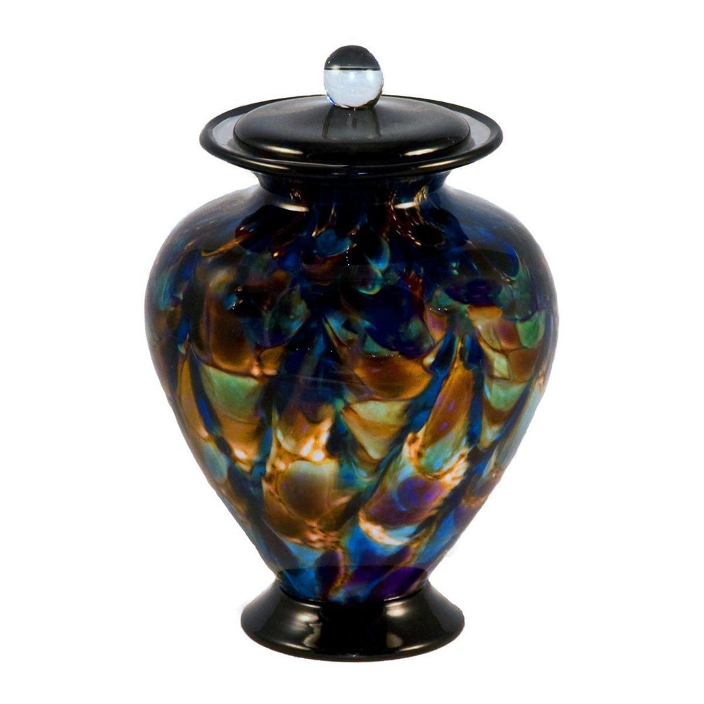 Amato Evening Hand Blown Glass Cremation Urn in Small