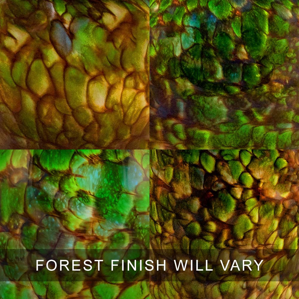 Forest Finish Examples - Each Glass Cremation Urn Will Be Completely Original