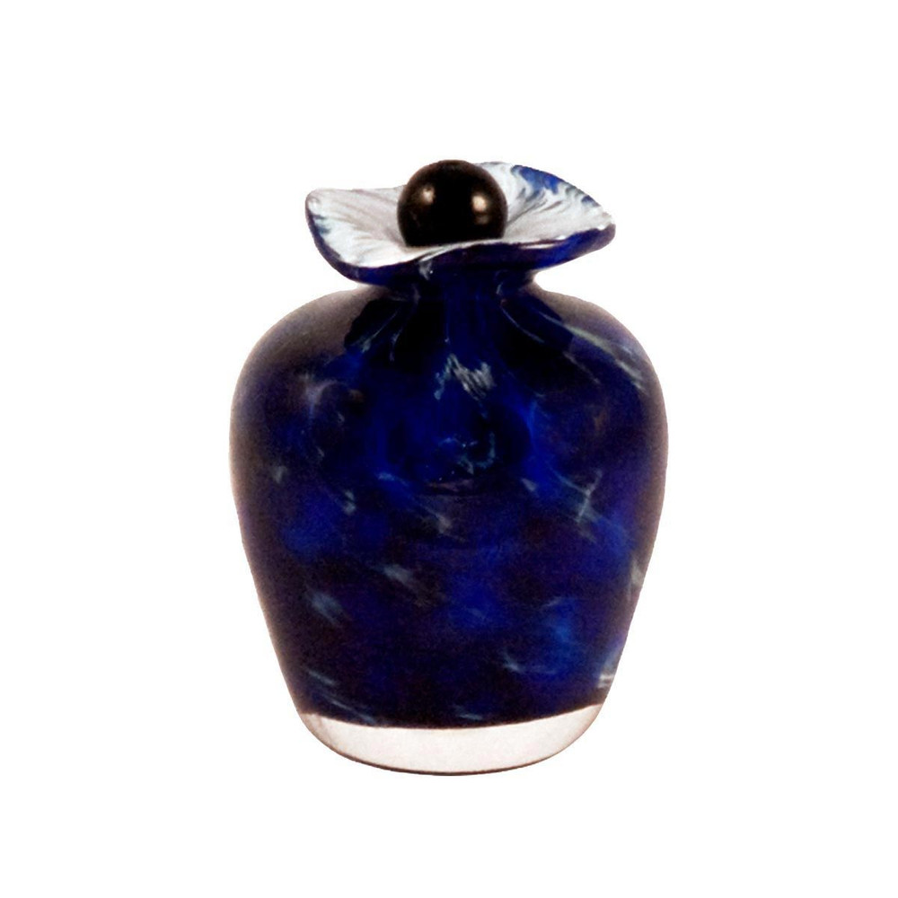 Hand Blown Glass Funeral Urn - Bella - Water - Keepsake